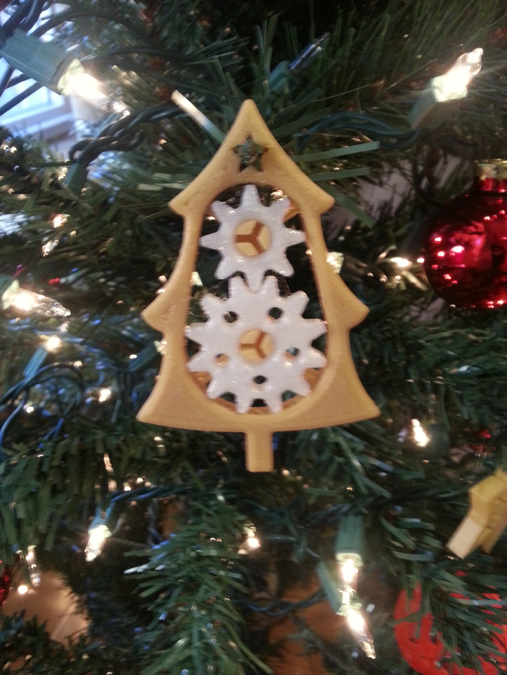 Gear Tree Ornament