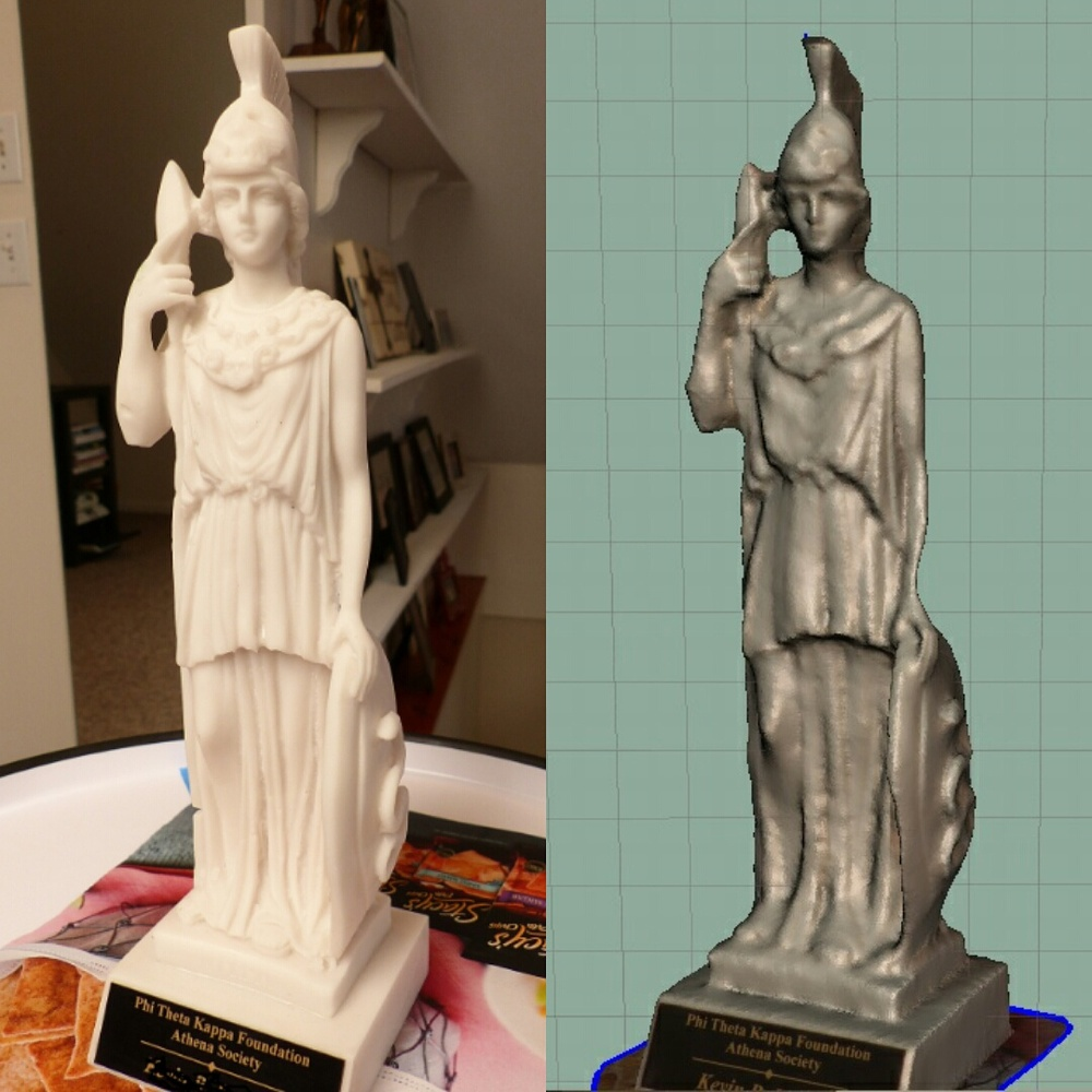 3dScannedSpartanStatue
