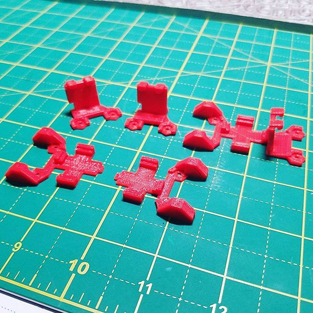 More #microdrone parts for a customer #3dprinted using #PLA and the #makergearm2 #3p3d #chicago #3dprint #3dprinting #additivemanufacturing #functionalprint #functionalprototype #desktopmanufacturing #rapidprototyping #drones #quadcopters #microdrones #minidrone #miniquadcopter