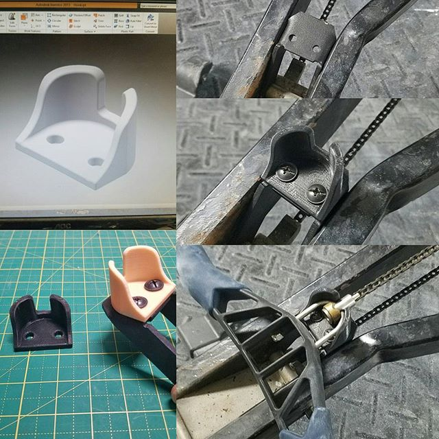 Was missing the handle catch for my old #concept2 model B handle retrofit so I made one. Designed using #Autodesk #Inventor and #3dprinted using #makergearm2 #3p3d #chicago #concept2rower #functionalprototype #functionalprint #additivemanufacturing #desktopmanufacturing #3dprintingservice #3dprinting #3dprinter #3dprinted #technologyisawesome #technologythesedays #makergear #3dmodeling #cadmodeling #cad #fitness #garagegym #homemade