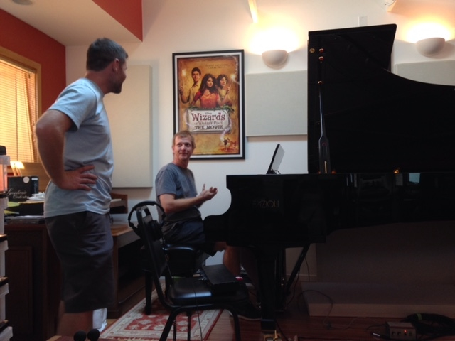 Director Ryan Todd discusses the piano part with Dave