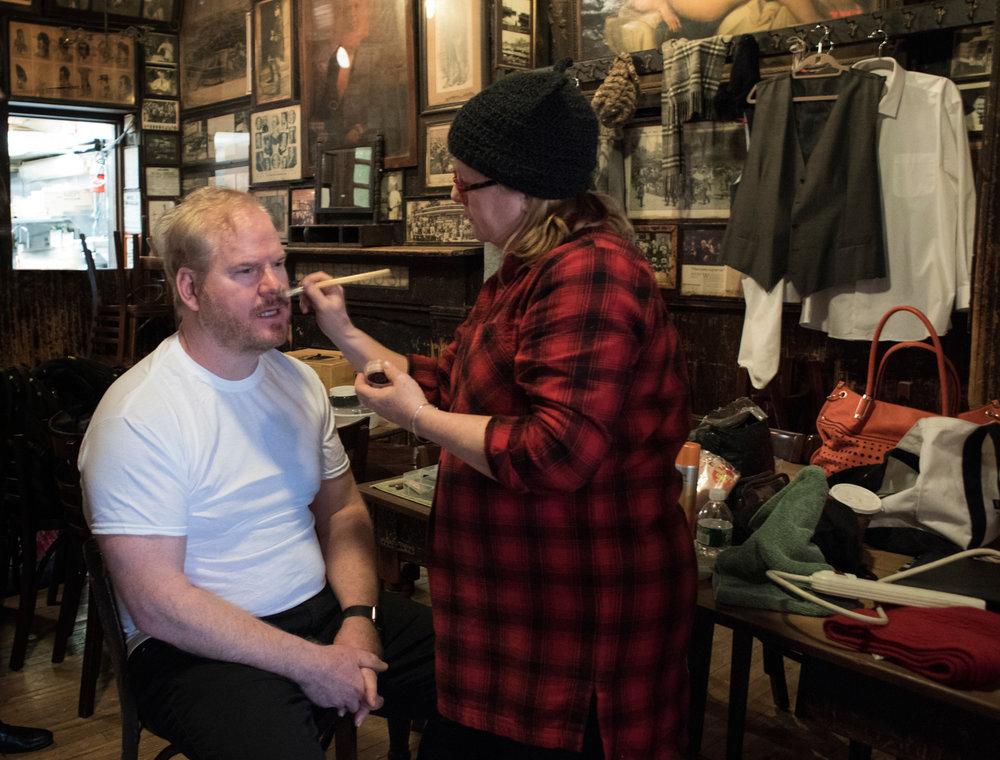 Mari OcConor on Hair & Makeup.