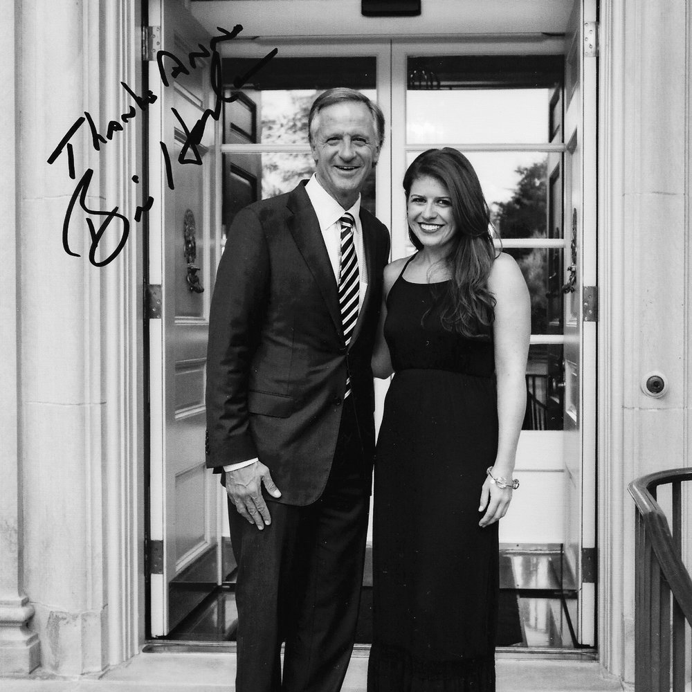 Anne with Governor Bill Haslam before a performance at the Tennessee Residence in July 2017