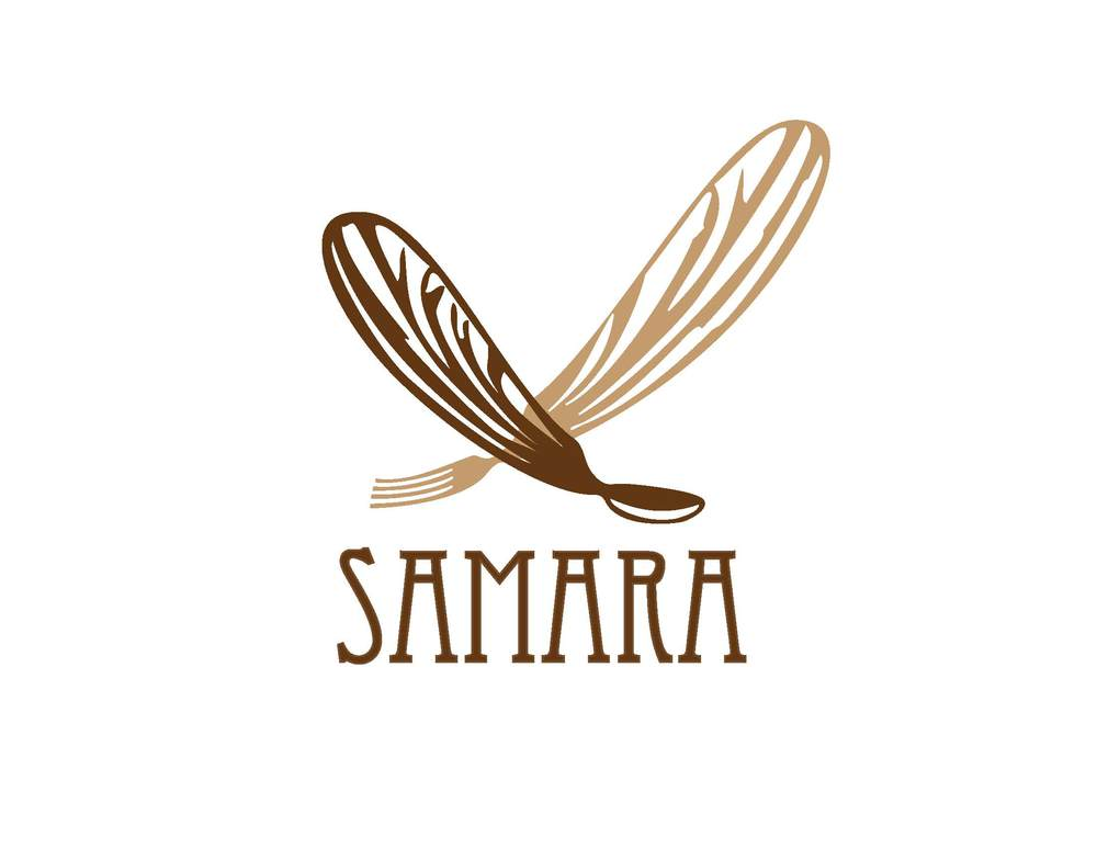 This is the logo I designed for restaurant. It is composed of two sugar maple seeds, called samaras, from which the restaurant takes its name.