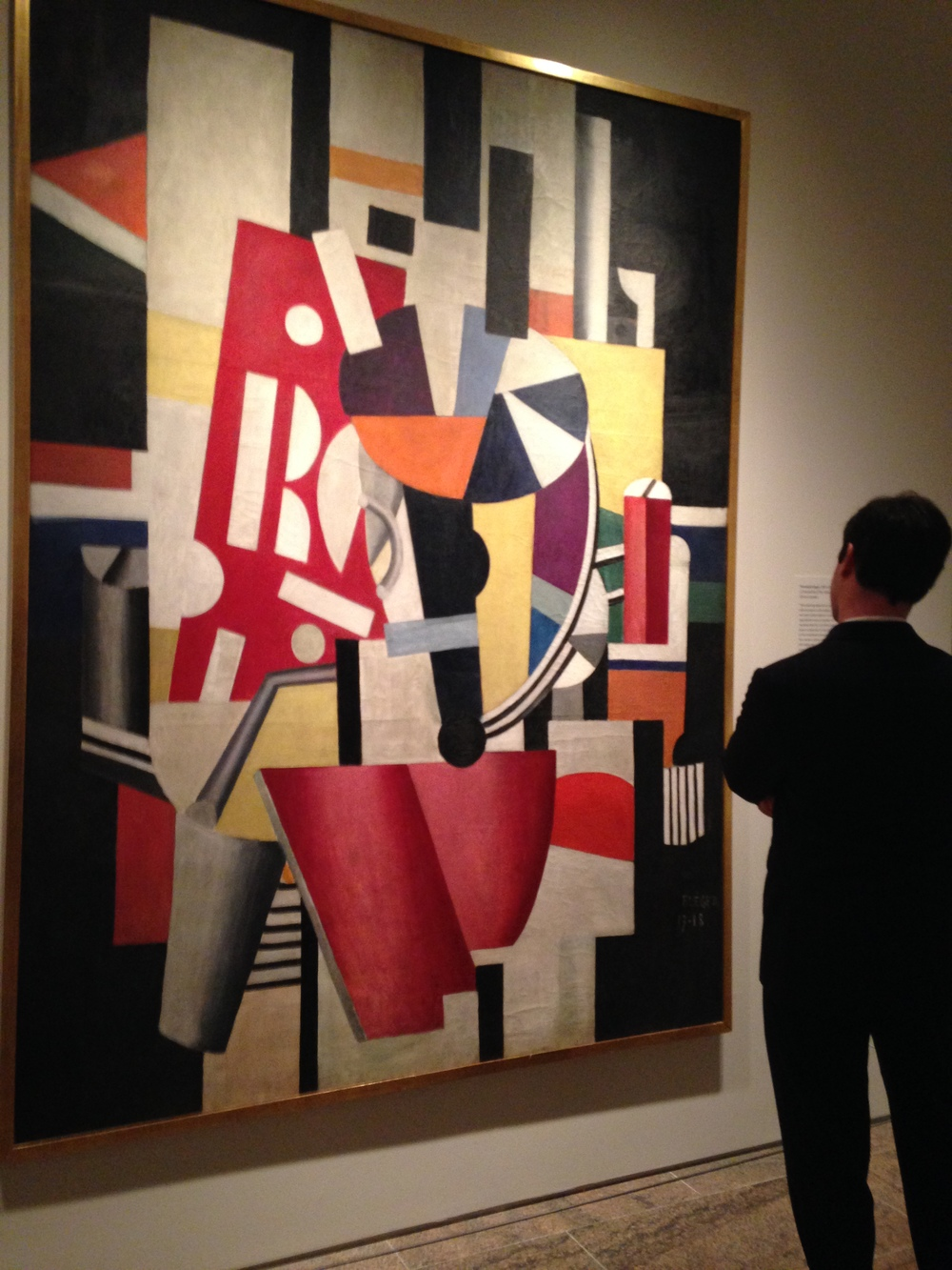 Composition (The Typographer) by Fernand Léger. After weeks of viewing only an image of this painting, it was exciting to see the scale and color in person.