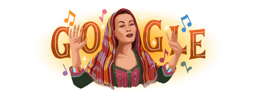On the anniversary of her birth, the 1950s singer -- who was famed for her incredible vocal range -- has been given the Doodle treatment. Copyright © Google