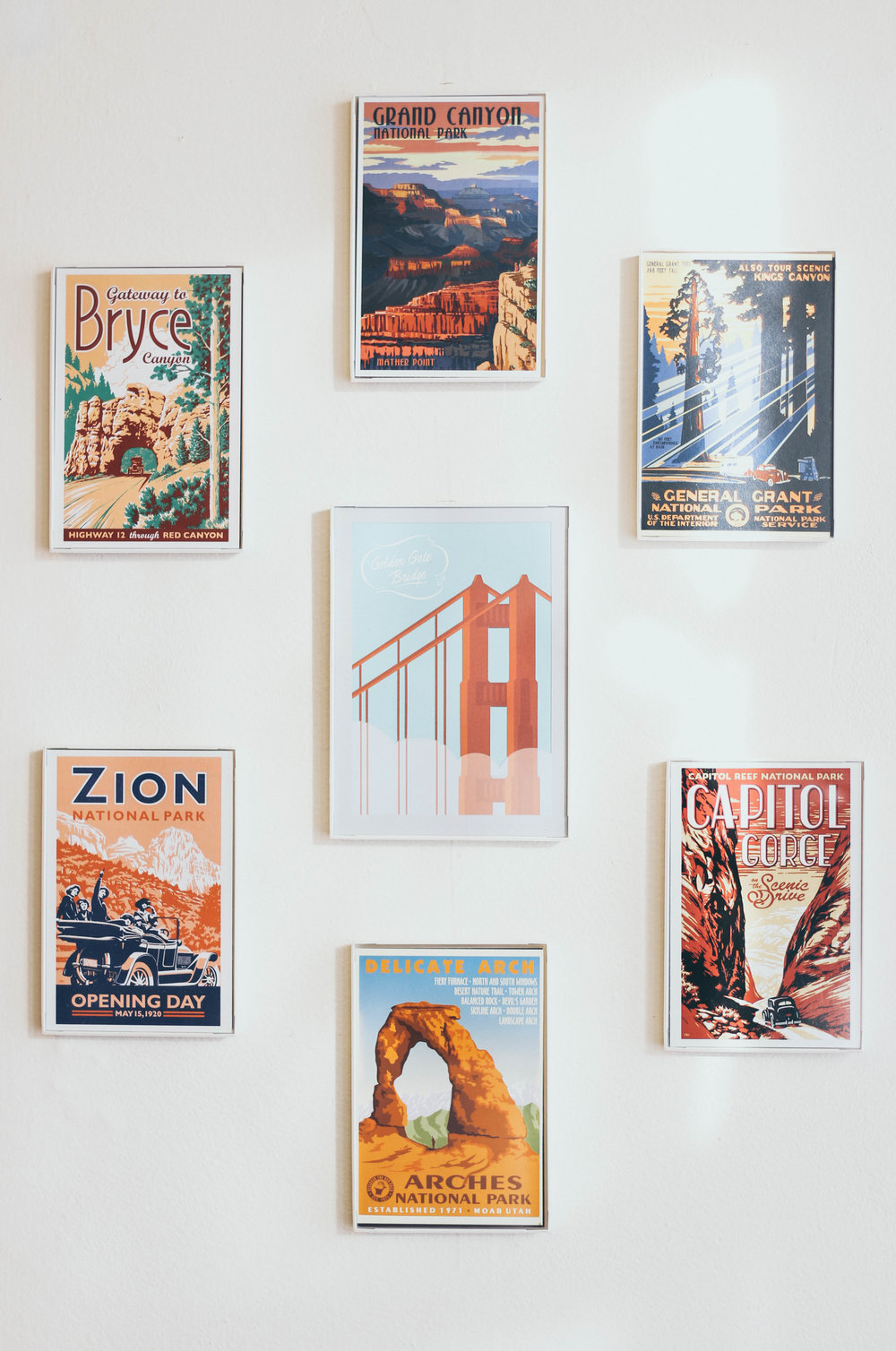Postcards from all of the places my sister and I went on our big road trip this past summer! I loved the vintage look of these.
