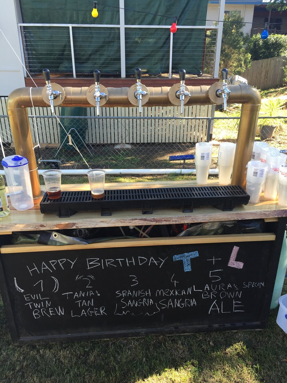 Robert makes his own beer and I love how he themed it all to match the party!
