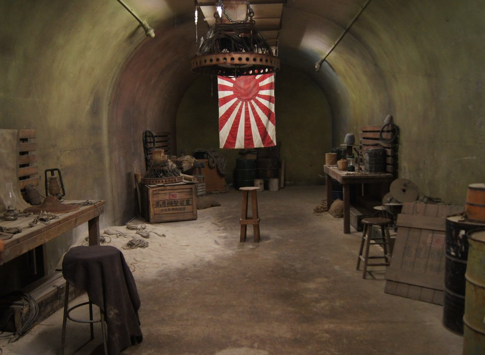 Bunkers used during the war, known as Battery Cooper, are now used as movie sets