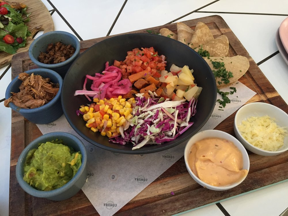 TACOS - DIY Tacos Board: six warm tortillas, selection of meats and sides