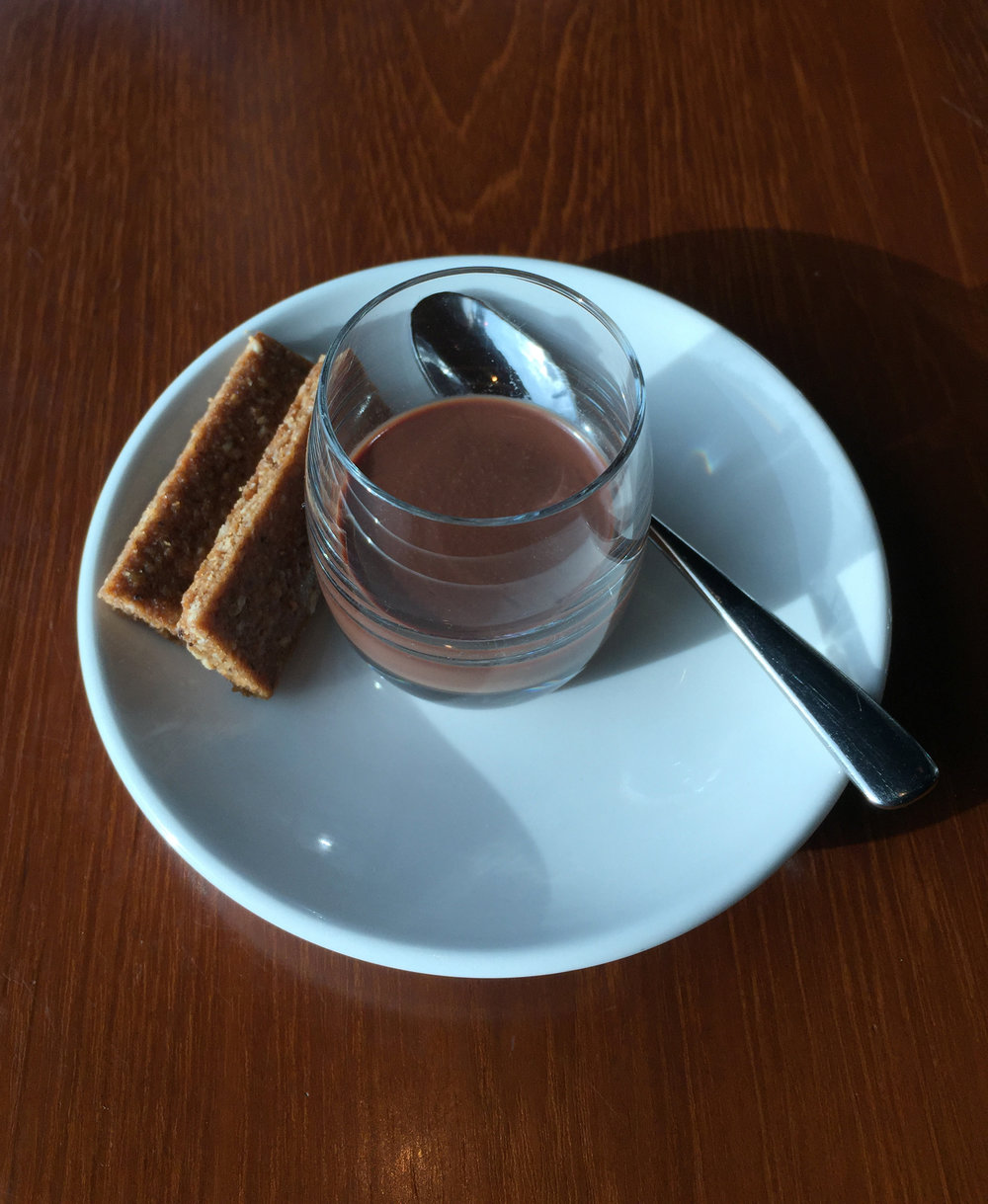 COMPLIMENTARY THIRD DESSERT - Chocolate ganache infused with French earl grey tea and carroway seed biscuits
