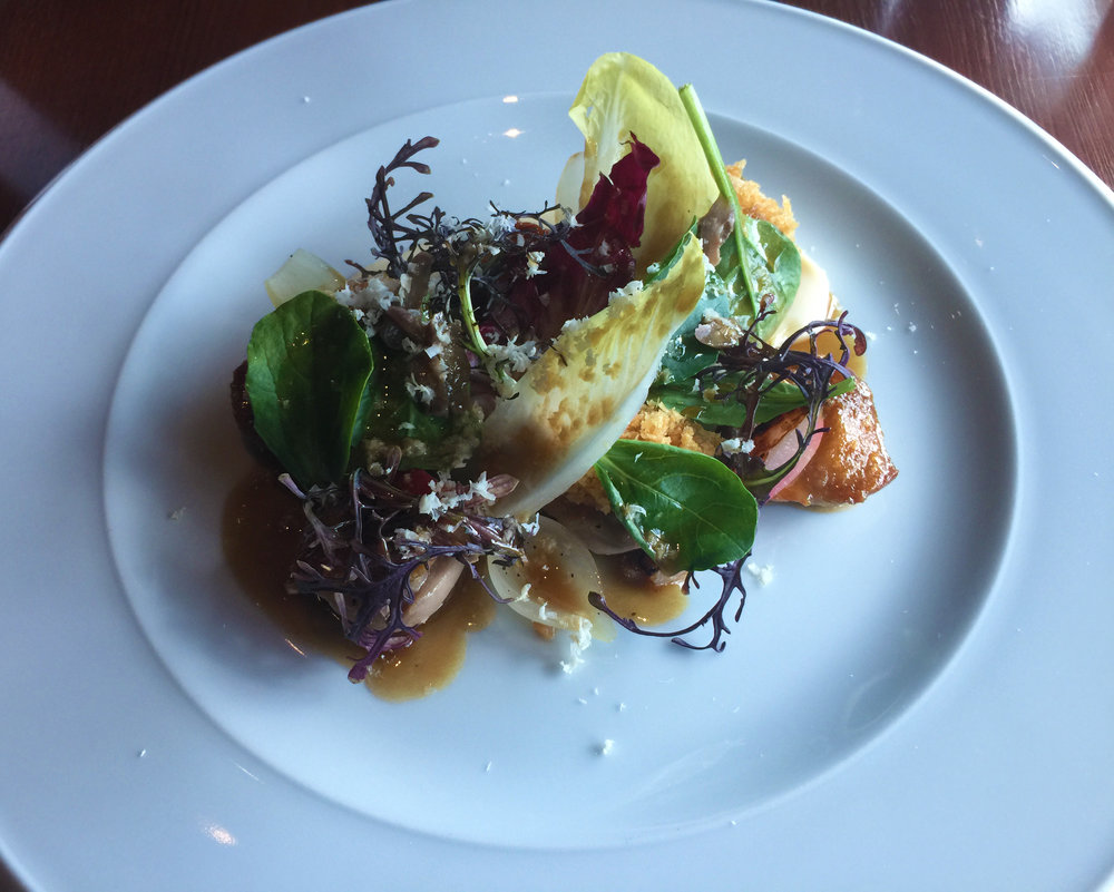 STARTER -Salamagundgy (c.1720): Chicken oysters, braised radish, horseradish cream, marrowbone and pickled walnuts