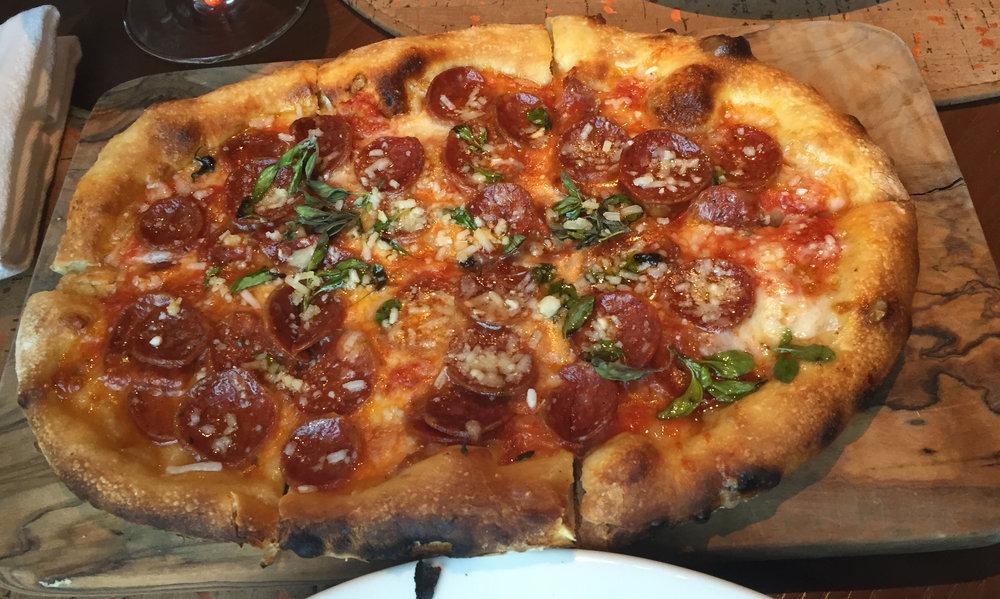 PIZZA - Salumi Picante: Spicy dry sausage, san marzano tomato sauce, mozzarella, oregano
