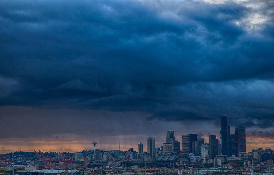 Stormy Seattle Sunset