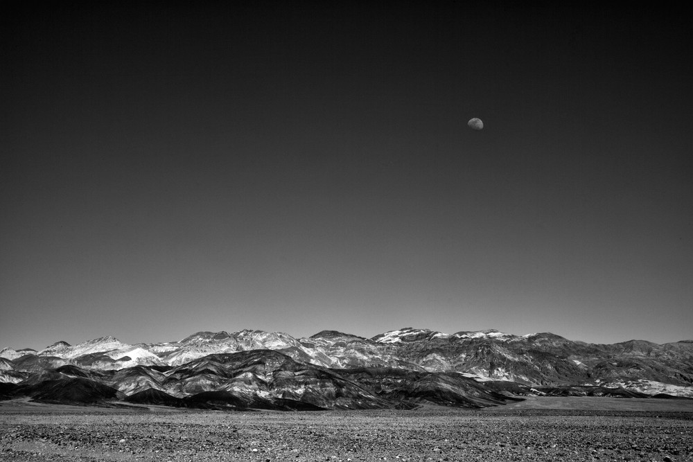 Moonrise over the Panamint Mountain Range.