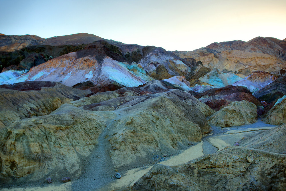 Artists Pallete, where the minerals in the soil in the mountain melt from the heat and make wonderful color profiles.