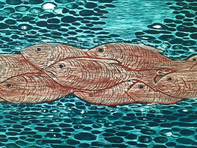 Woodcut print, robyn mackay