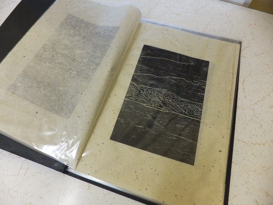 Artist Book of woodcut prints on Mulberry paper by Robyn Mackay