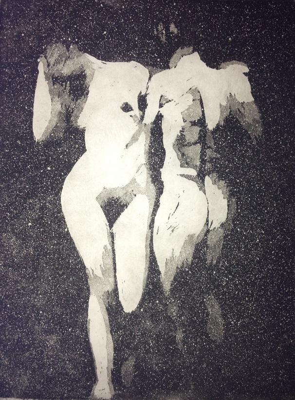 Aqua tint etching, Rachel Kirby