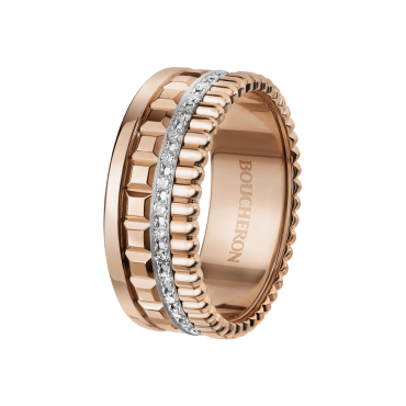 Quatre Radiant Pink Gold with Diamonds