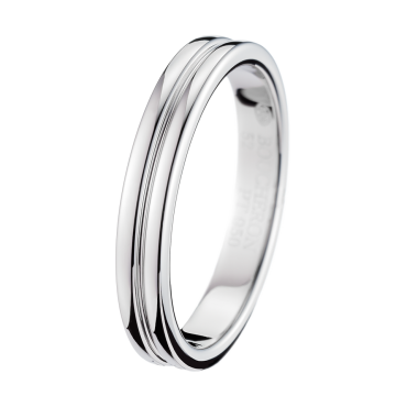 GODRON PLATINUM SMALL WEDDING BAND - Band in Platinum