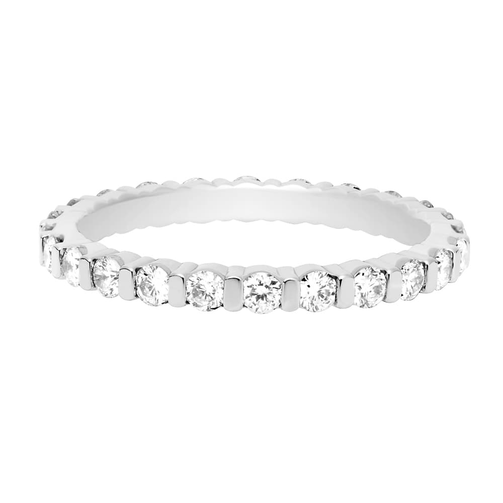 FRED FOR LOVE DIAMONDS WEDDING BAND IN PLATINUM - Band in platinum and white diamonds