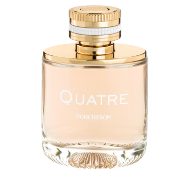 QUATRE     A lively and elegant fragrance   QUATRE for Woman, a modern and daring olfactory interpretation of the Maison Boucheron's iconic ring.