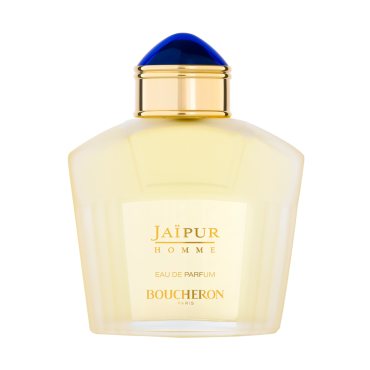 JAÏPUR HOMME    Launched in 1998, Jaïpur Homme is a pure sensual adventure   Jaïpur Homme takes inspiration from the marvelous gardens of the Maharadjas and bears all of the precious codes of Maison Boucheron: the golden gadroons, the sapphire cabochon...