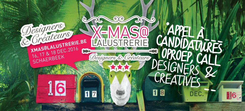 Wij zijn benieuwd naar jouw creaties! Oproep designers & creatieven voor onze kerstmarkt! Meer info? Een Clickje &/of stuur ons een mailtje : xmas@lalustrerie.be