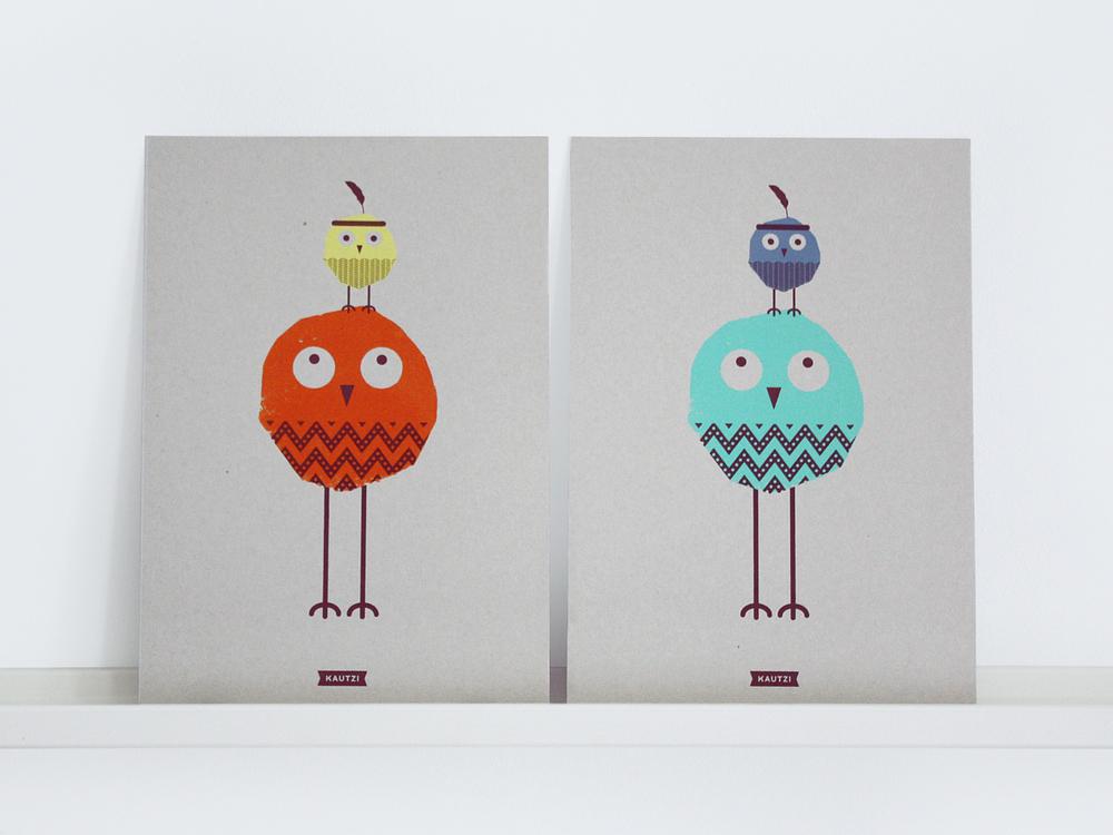 Gordon & Peter – Screen print A4