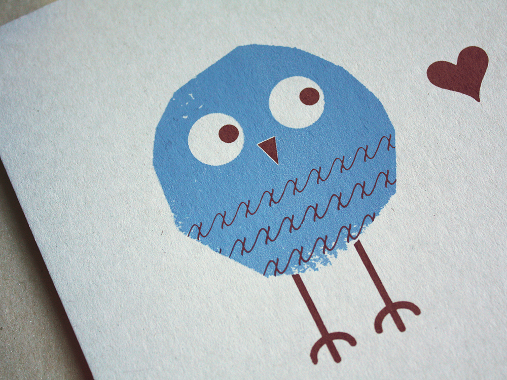 Eulen auf Papier, Owls on Paper, Siebdruck, Screenprinting