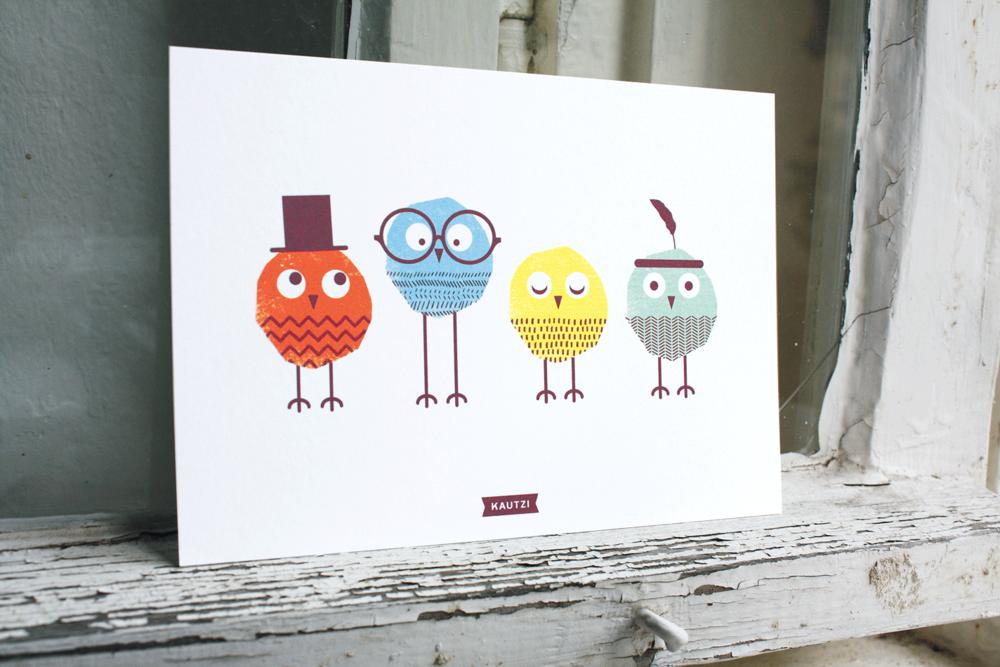 Conrad, Ralph, Emilie & Peter    Set of 4 Postcards