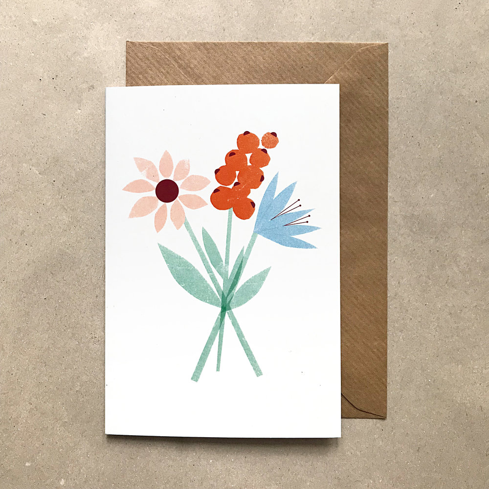 "Greeting Card ""A bunch of flowers"""