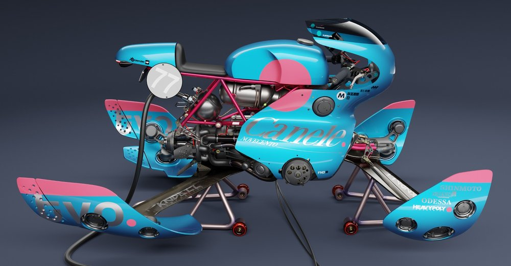 HOVERBIKE AND RYDER - By Vaughan Ling and Kirk Shinmoto