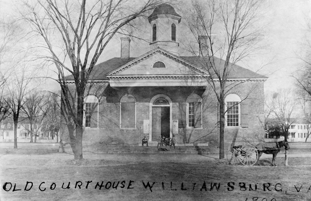 The 1770 Courthouse (photo ca. 1900) was used as the morgue during and following the May 5, 1862 battle