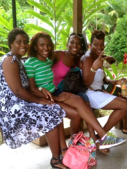 Recent photo of my childhood friends in Jamaica