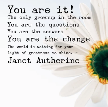 You are the change!