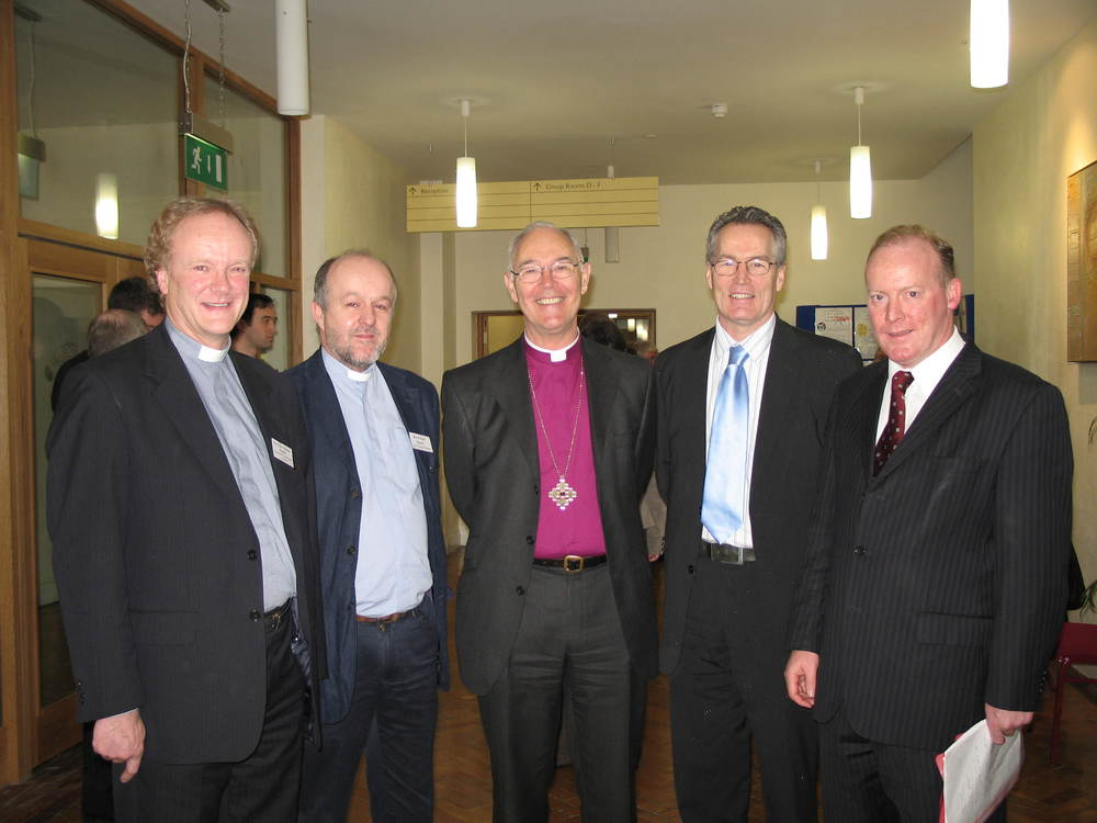 Ministers Gerry Kelly MLA & Conor Lenihan TD with Archbishop of Armagh - Hard Gospel Project Immigration Conference