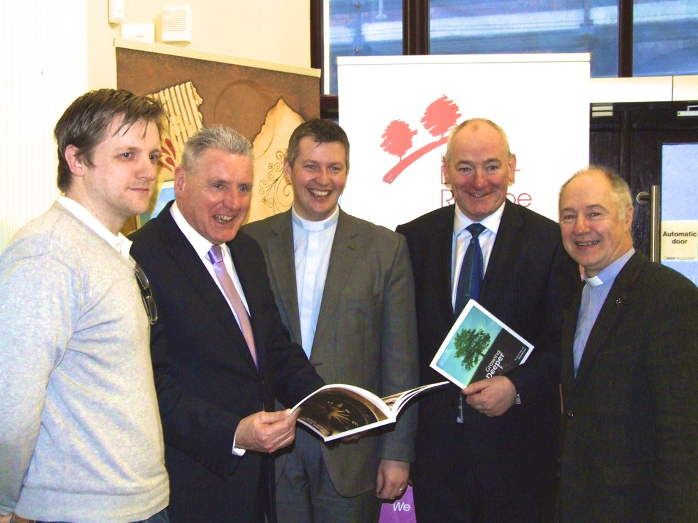 Vernon Coaker (Labour Shadow Minister for NI) & Mark Durkan MP receive their copies of 'The Extra Mile'