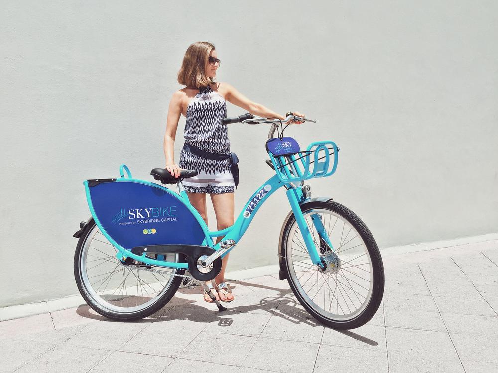 West Palm Beach Bikeshare Bike Branding Design