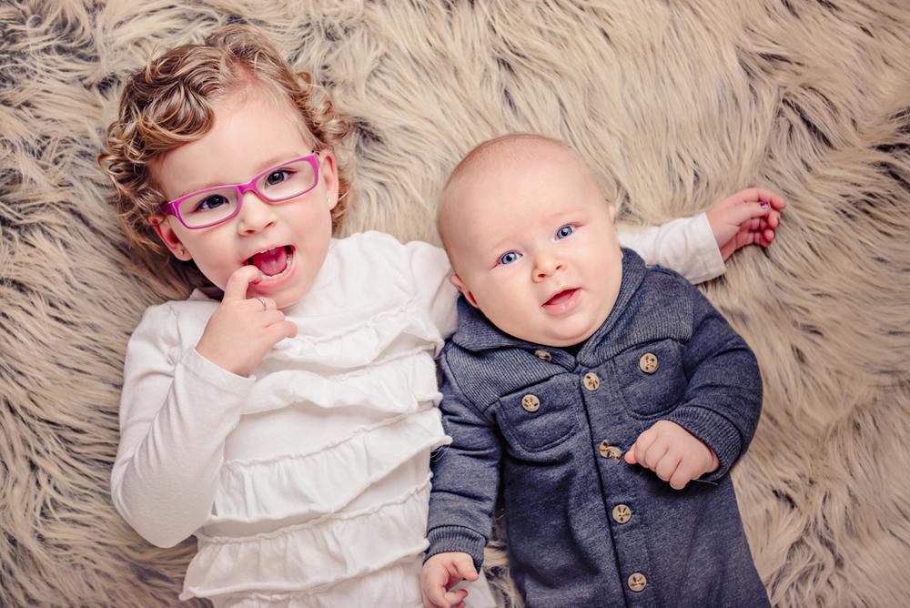 toddler and baby pose - Louisa Nickel