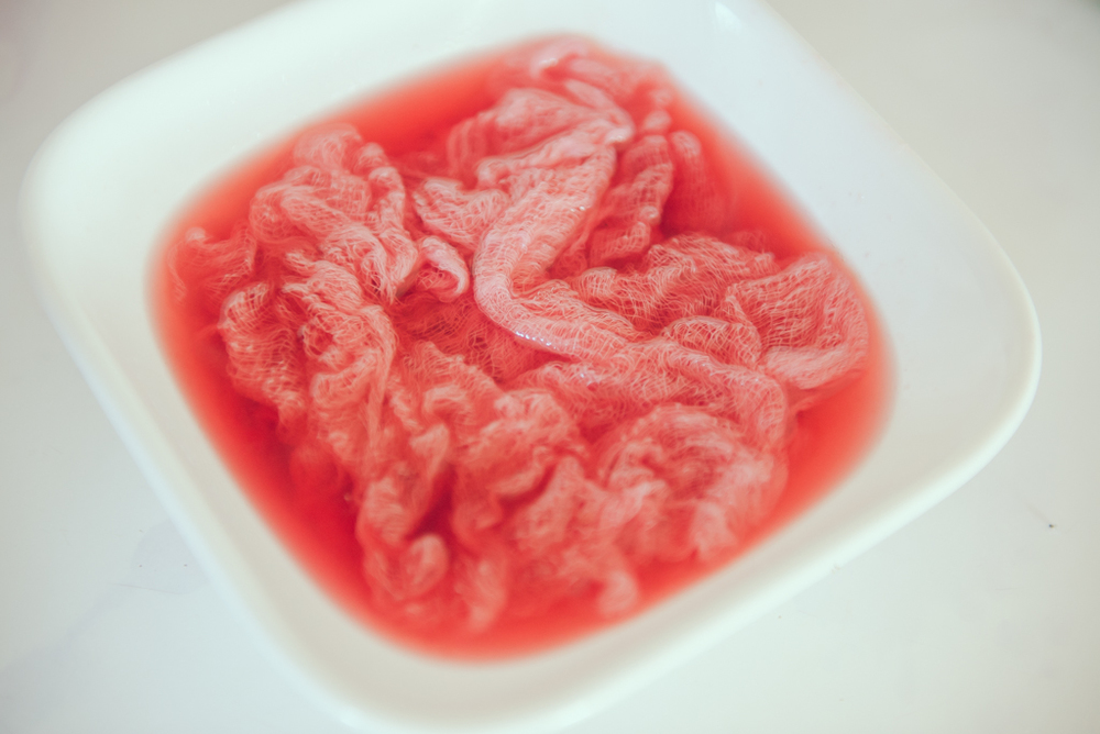dye bath | natural dying | cheesecloth | Louisa Nickel Photography
