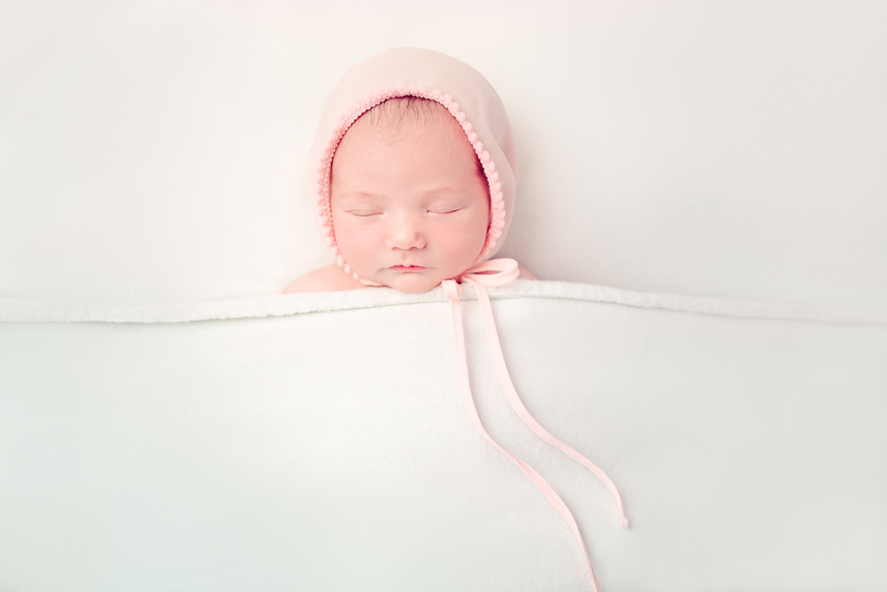 tucked in - pink bonnet - handmade - upcycle props - Louisa Nickel Photography