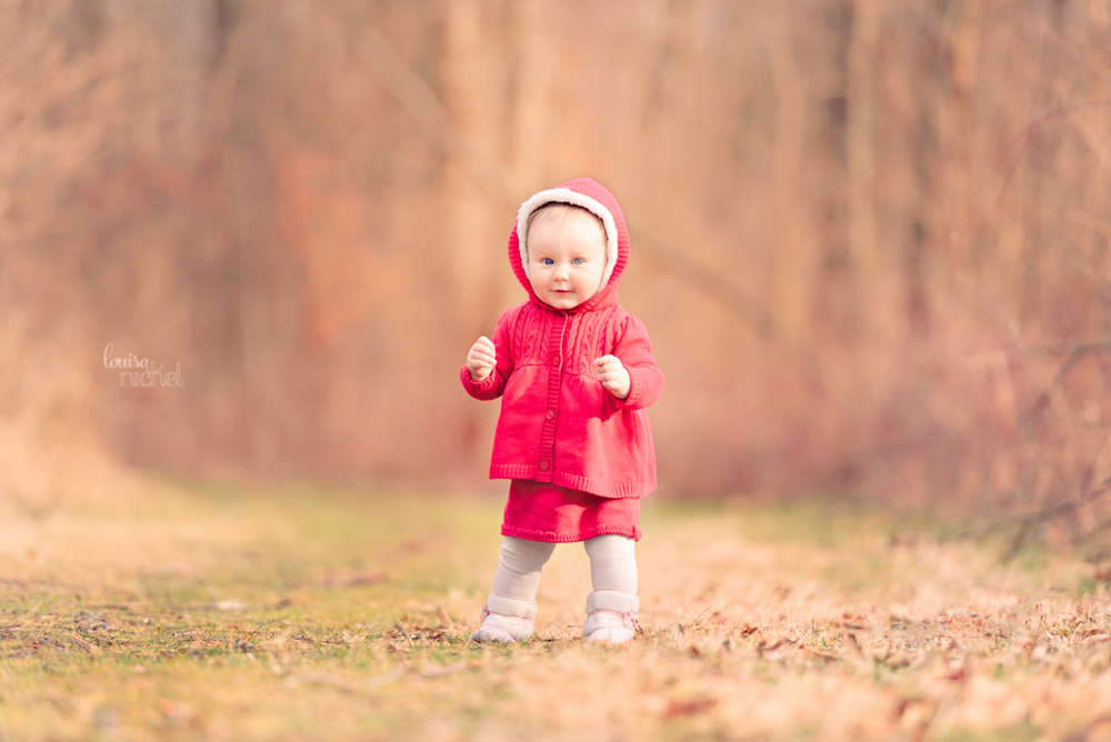 little red riding hood - forest - baby girl - Louisa Nickel Photography