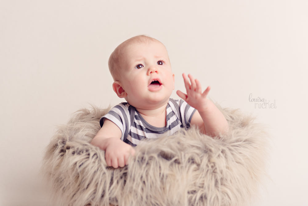 baby in basket - bubbles - prop ideas - Louisa Nickel Photography