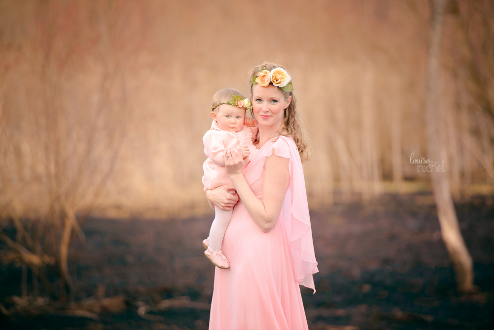 mother and baby - maternity gown - exist in photos - Louisa Nickel Photography