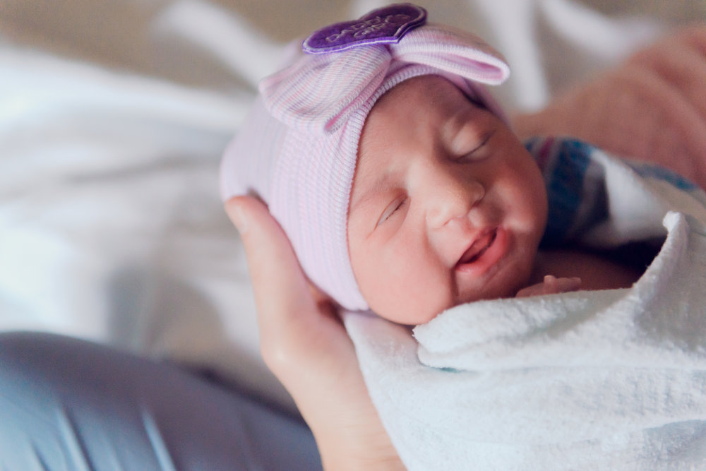 newborn girl hospital session | Rockford Memorial | Louisa Nickel Photography -18.jpg