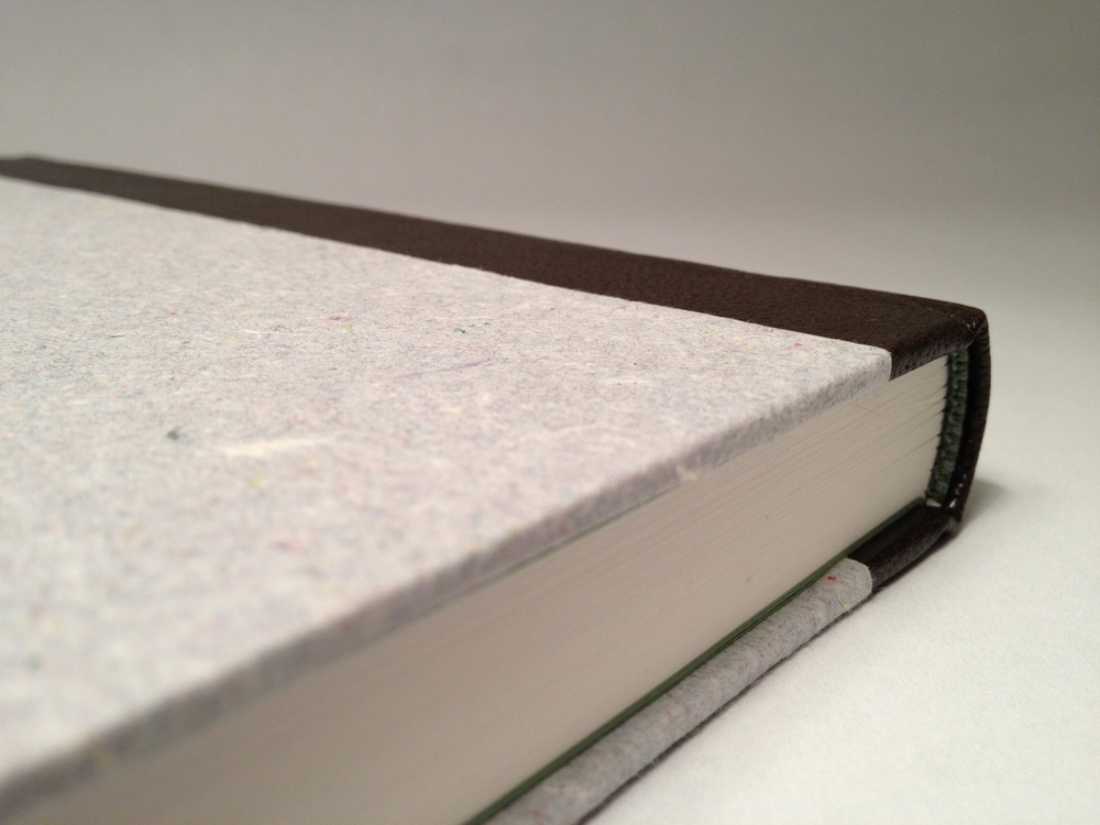Tight joint leather case binding with raised bands