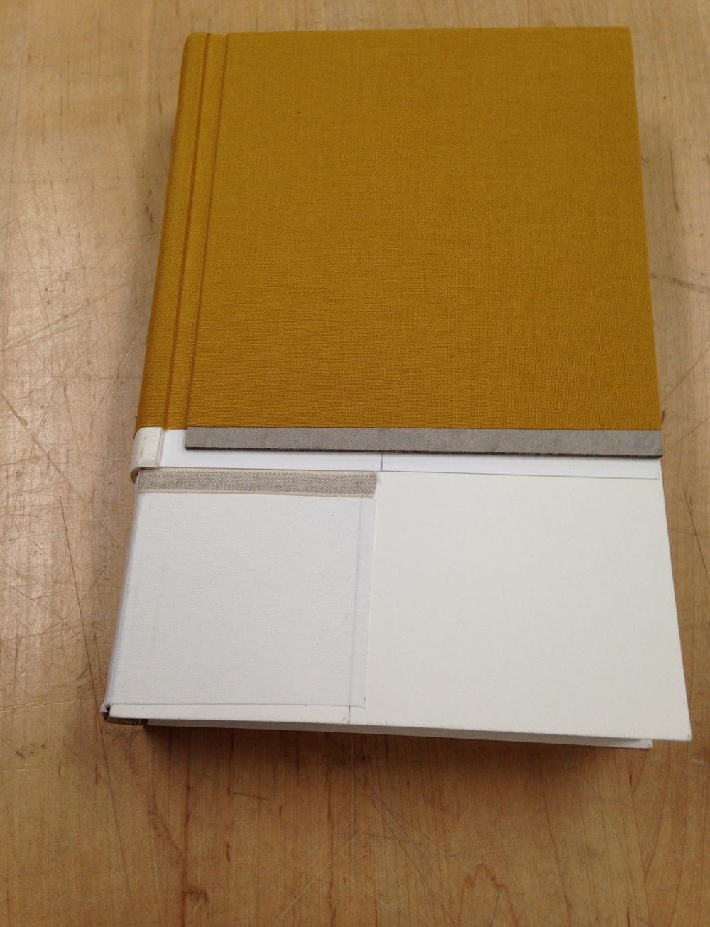 The springback covered in the loveliest shade of Iris book cloth