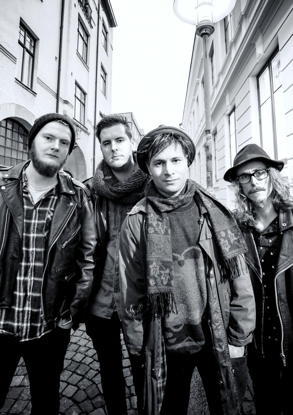 From left to right: Eirik Lundh, Konrad Grahn, Dennis Dine, Micke Löfgren
